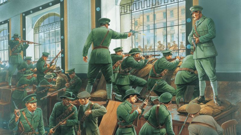 The Irish Troops during the Easter Rising