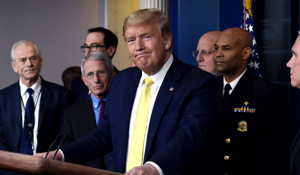 Donald Trump and Dr. Fauci